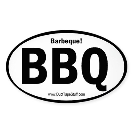 BBQ Barbeque Oval Sticker