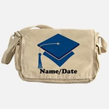 Personalized Blue Graduation Messenger Bag