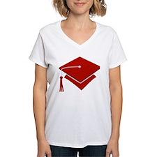 Dark Red Grad Hat Gift Shirt