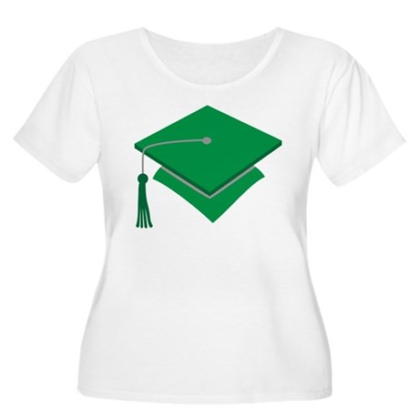 Green Grad Hat Gift Women's Plus Size Scoop Neck T