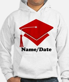 Personalized Red Graduation Hoodie