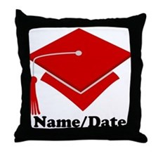 Personalized Red Graduation Throw Pillow