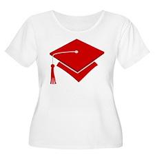 Red Grad Hat Gift T-Shirt