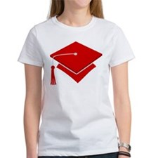 Red Grad Hat Gift Tee