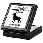 Black Labs In Heaven Keepsake Box