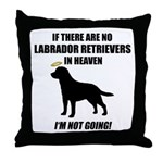 Black Labs In Heaven Throw Pillow
