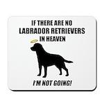 Black Labs In Heaven Mousepad