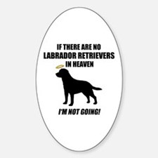 Black Labs In Heaven Oval Decal