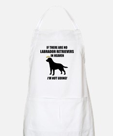 Black Labs In Heaven BBQ Apron