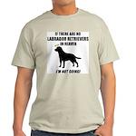 Black Labs In Heaven Ash Grey T-Shirt