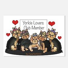 Yorkie Lovers Club Member Postcards (Package of 8)