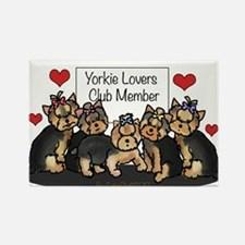 Yorkie Lovers Club Member Rectangle Magnet