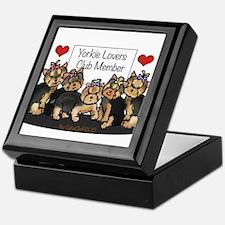Yorkie Lovers Club Member Keepsake Box
