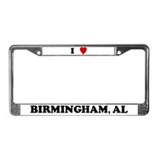 I Love Birmingham License Plate Frame