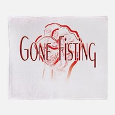 Gone-Fisting-white.png Throw Blanket