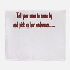 Mom-underwear-white.png Throw Blanket