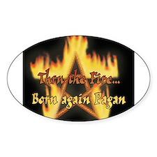 born pagan black t ... Decal