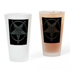 Baphomet-black-background.png Drinking Glass