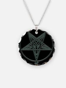 Baphomet-black-background.png Necklace Circle Char