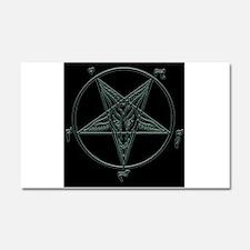 Baphomet-black-background.png Car Magnet 20 x 12