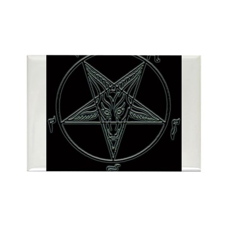 Baphomet-black-background.png Rectangle Magnet (10
