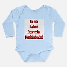 Not-a-Lesbian-white.png Long Sleeve Infant Bodysui