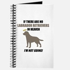 Chocolate Labs In Heaven Journal