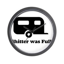 Shitter was full 1.png Wall Clock