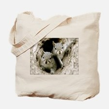 Baby Squirrels Tote Bag