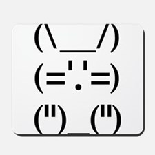 Hip Hop Text Bunny Mousepad
