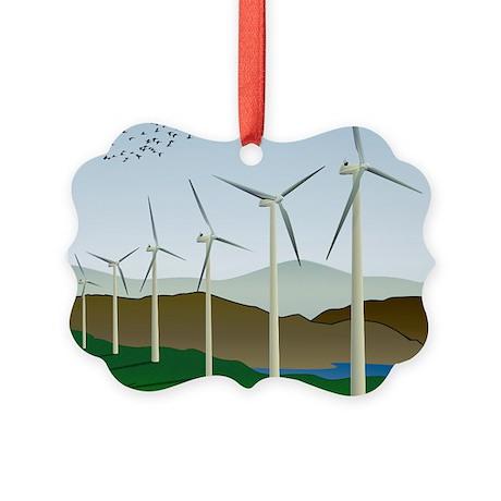 Wind Turbines Picture Ornament
