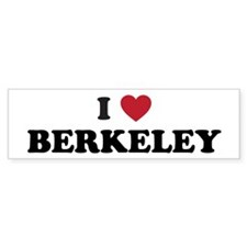 I Love Berkeley Bumper Sticker