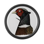 Ringneck Rooster Head Large Wall Clock