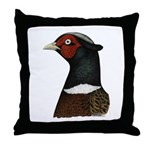 Ringneck Rooster Head Throw Pillow