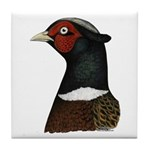 Ringneck Rooster Head Tile Coaster