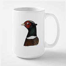 Ringneck Rooster Head Large Mug