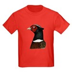 Ringneck Rooster Head Kids Dark T-Shirt