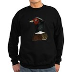 Ringneck Rooster Head Sweatshirt (dark)