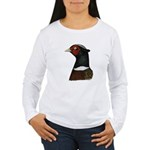 Ringneck Rooster Head Women's Long Sleeve T-Shirt