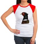 Ringneck Rooster Head Women's Cap Sleeve T-Shirt