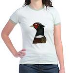 Ringneck Rooster Head Jr. Ringer T-Shirt
