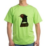 Ringneck Rooster Head Green T-Shirt