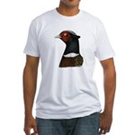 Ringneck Rooster Head Fitted T-Shirt