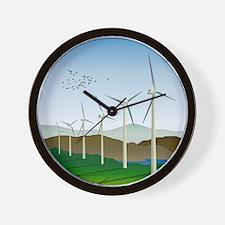 Wind Turbines Wall Clock