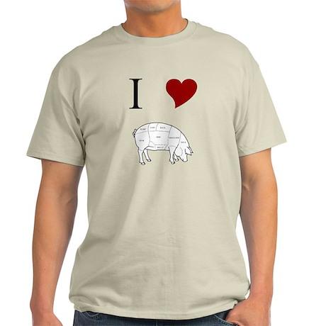 I Love Pig Light T-Shirt