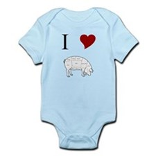 I Love Pig Infant Bodysuit