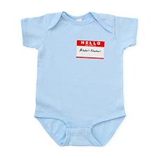 Abdul-Shakur, Name Tag Sticker Infant Bodysuit