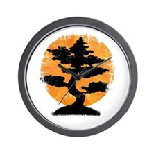 Vintage Bonsai Wall Clock