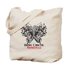 Butterfly Brain Cancer Tote Bag