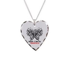 Butterfly Brain Cancer Necklace Heart Charm